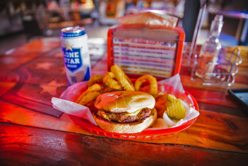 Burger and Beer at Strokers Dallas