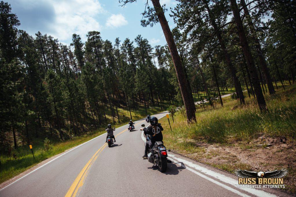 Riding through the Black Hills