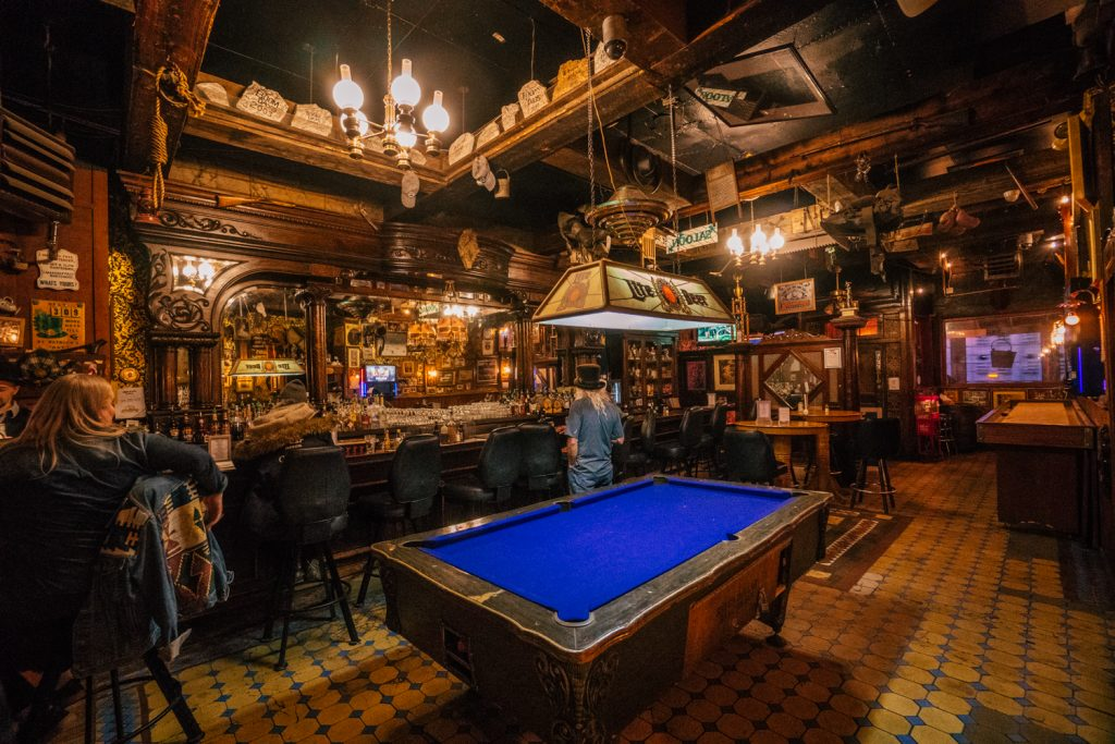 Inside the Silver Dollar Saloon of Leadville Colorado