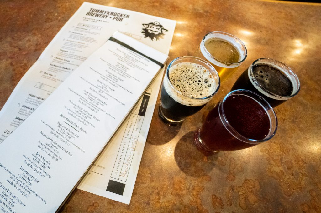 Craft Beer Samples at Tommy Knocker Brewery