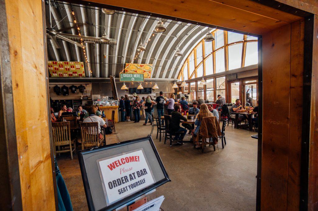 Inside the Taos Mesa Brewery Mothership