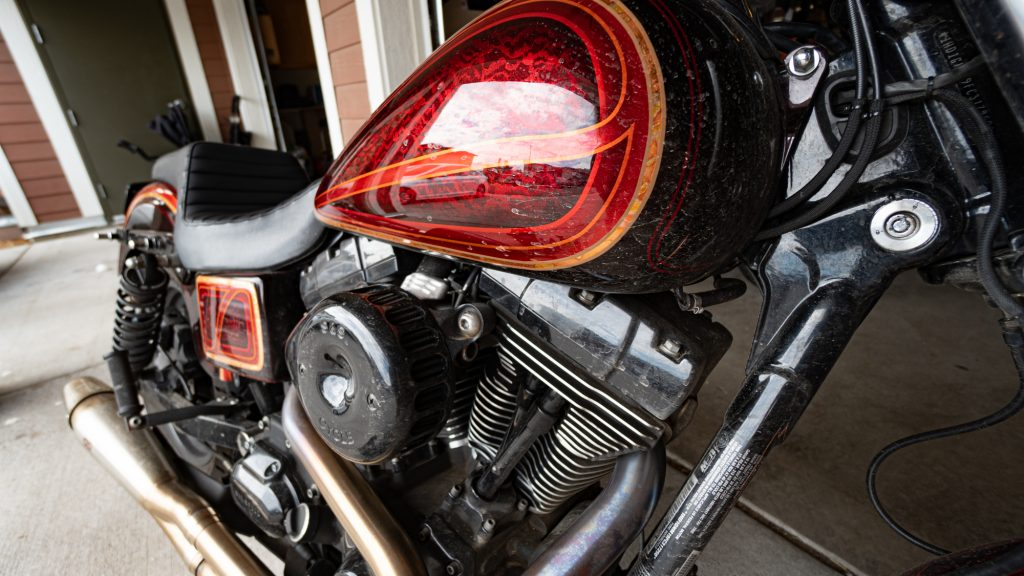 Dirty Motorcycle Before being Detailed