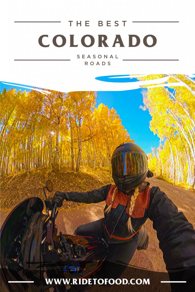 Best Seasonal Roads in Colorado for Motorcyclists