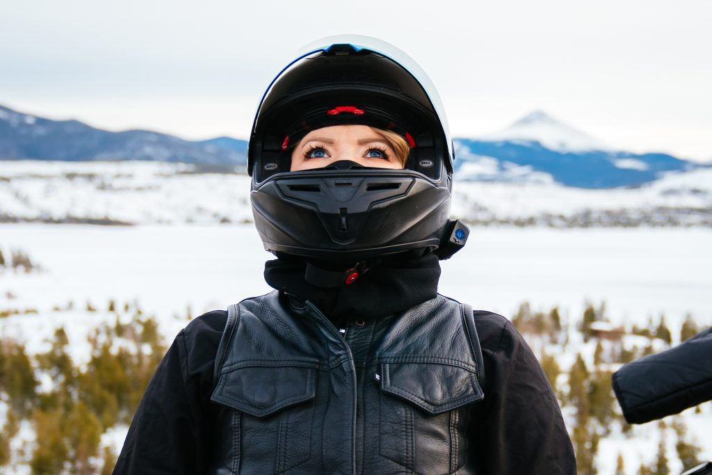 Winter Riding Essentials | Bell Race Star Helmet and Neck Gaiter