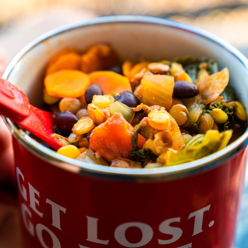 Lentil Soup | Motorcycle Camping Meals