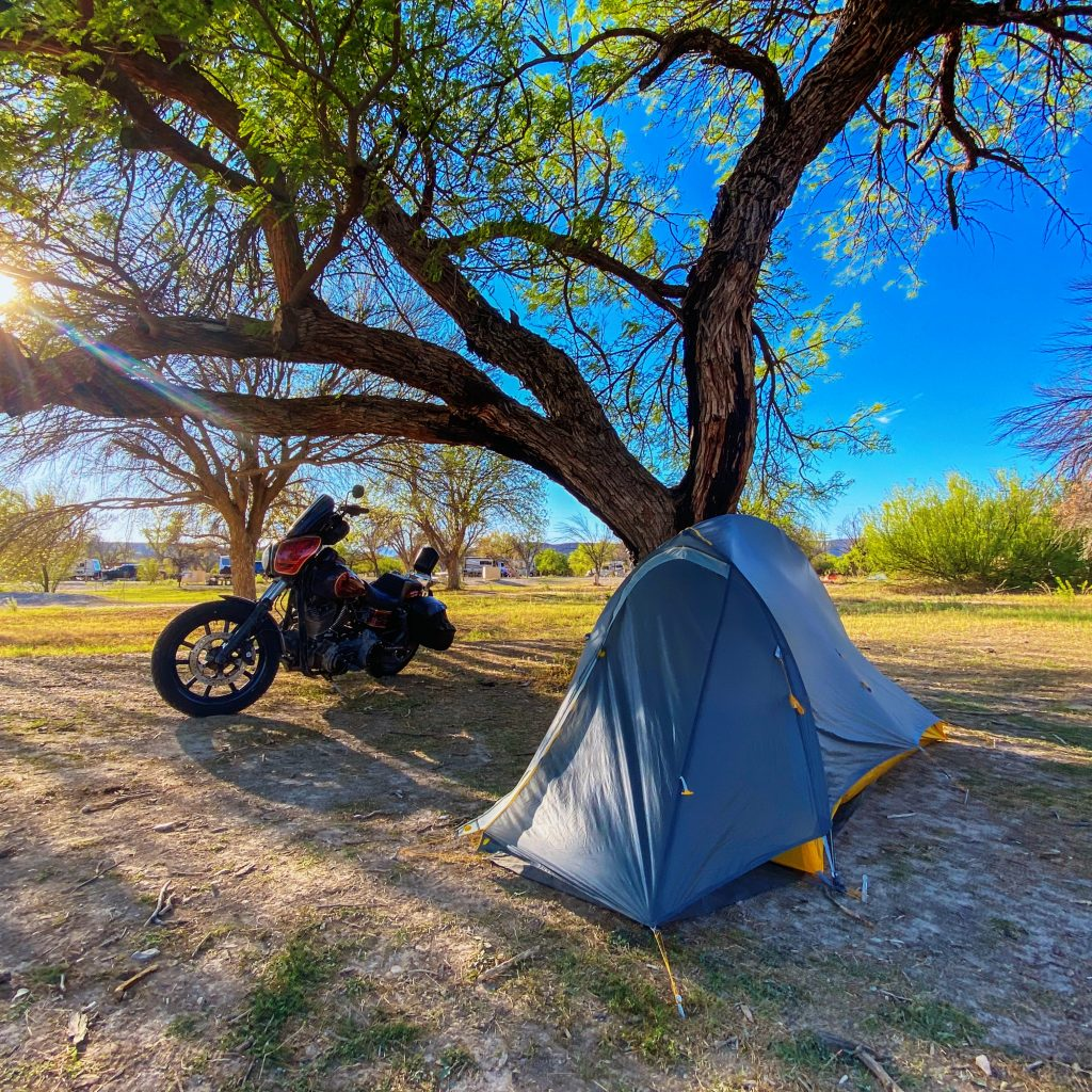Motorcycle Camping Big Bend National Park
