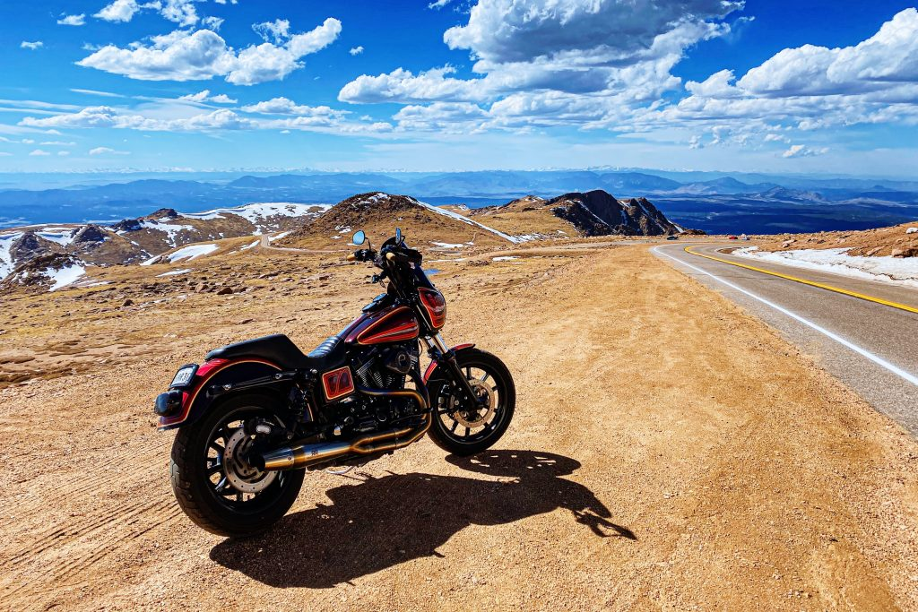 Pikes Peak Highway on a Motorcycle