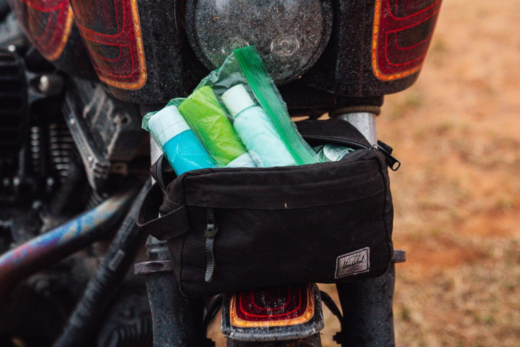 Motorcycle Trip Packing List | Toiletries
