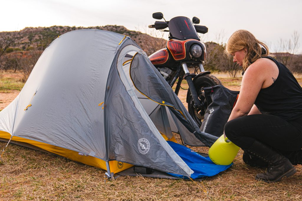Big Agnes Fly Creek Bikepacking Tent   Motorcycle Camping Tent