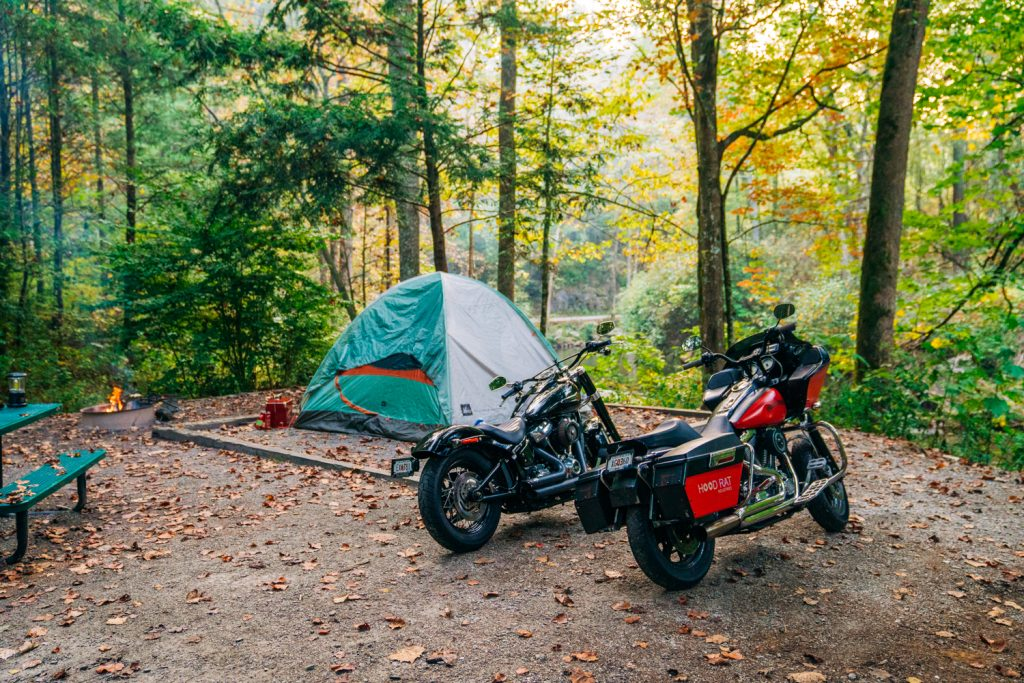 Motorcycle Camping on Forest Service Land
