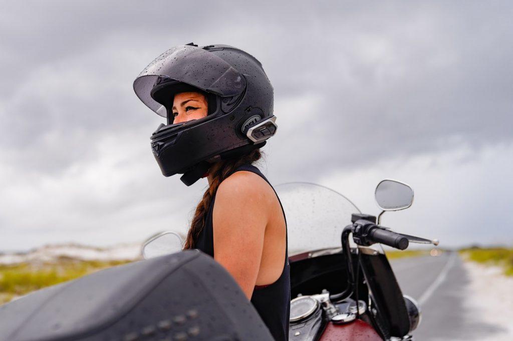 Sena 50R on Bell Helmet